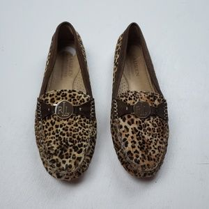 Ralph Lauren Leopard Leather Calf Hair Loafers